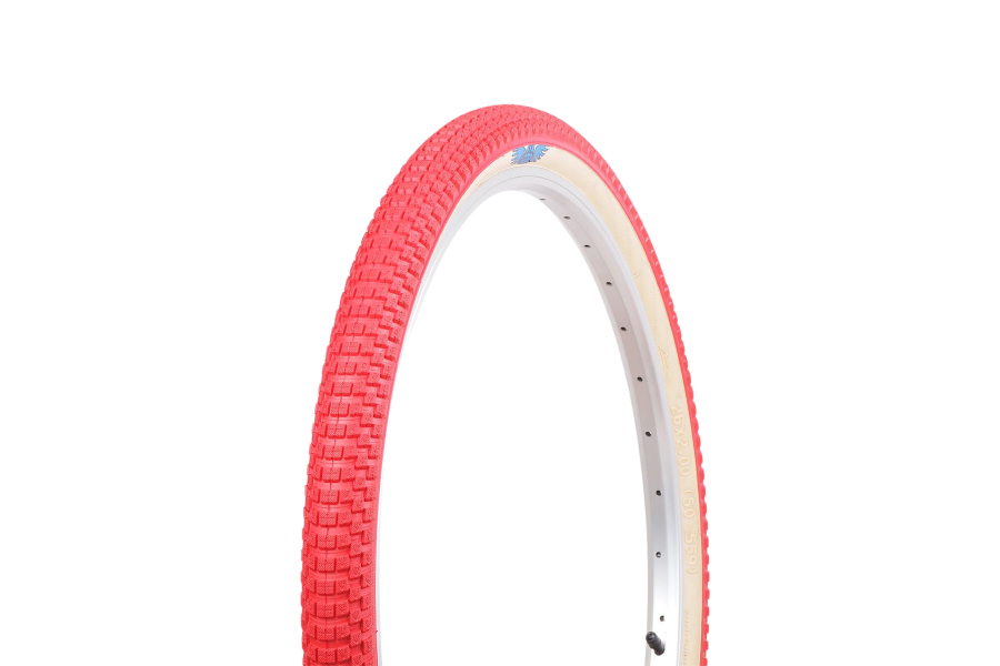 """SE BIKES CUB  26/"""" x 2.0/""""  RED//TANWALL BICYCLE TIRE"""